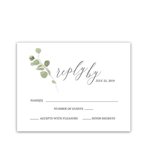 sample rsvp cards for wedding invitations