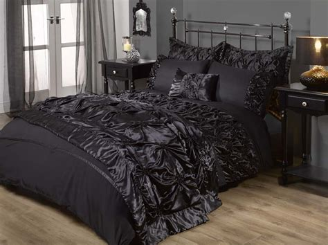 gothic bedding sets gothic chic freya bed set in black bed room stuff