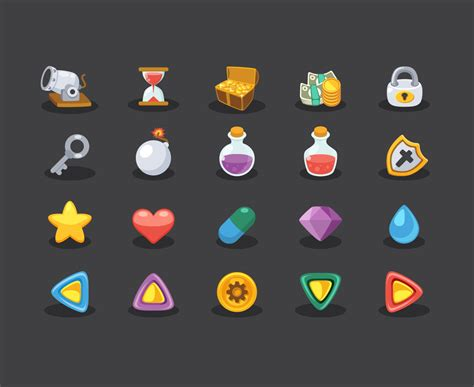 game design vector game elements icons iconstore