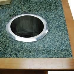 built in countertop trash and scrap chute stainless