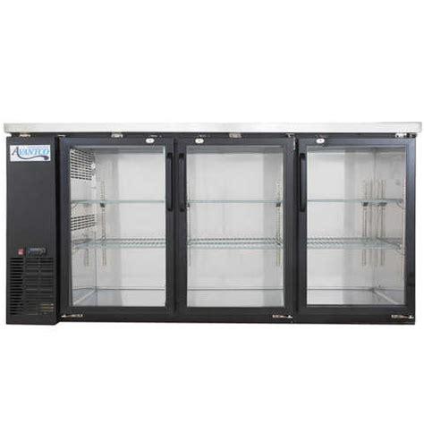 2 Advantco 3 Door Back Bar Fridges Commercial Grade Only 5 Glass Door Bar Fridge For Sale