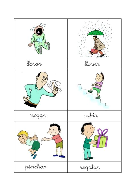 vocabulario en im 225 genes maestra de infantil y primaria dibujos acciones verbos acciones con dibujos