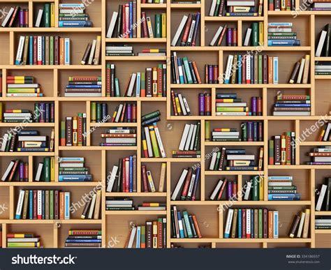 concept picture books education concept books textbooks on bookshelf stock