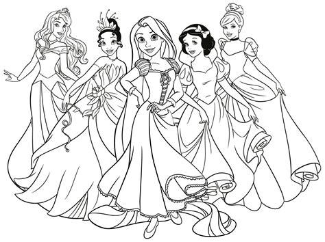 Imagenes Para Colorear Princesas De Disney | dibujos de princesas disney para colorear e imprimir gratis