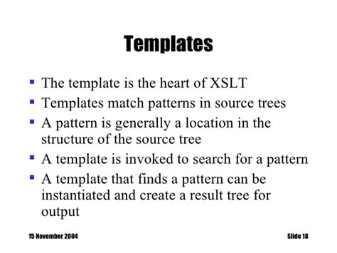 xslt templates learning xslt