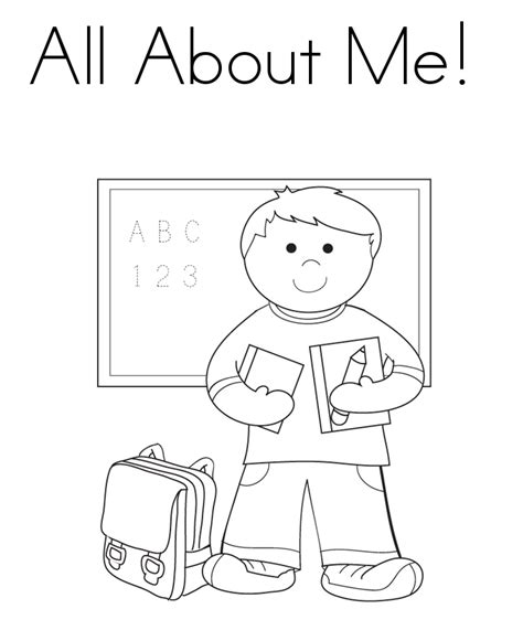 All About Me Coloring Pages Worksheets all about me coloring pages coloring home