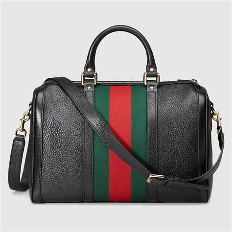 gucci boston bag gucci vintage web leather boston bag 247205a7mag1060