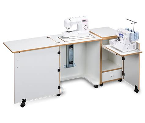 sewing machine serger cabinet plans sylvia design model 1000 space saver sewing and serger