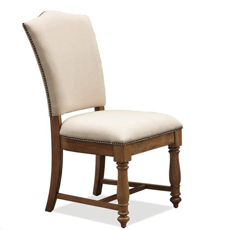 Rustic Pine Dining Chairs River Furniture Summerhill Upholstered Dining Chair In Canby Rustic Pine 91660