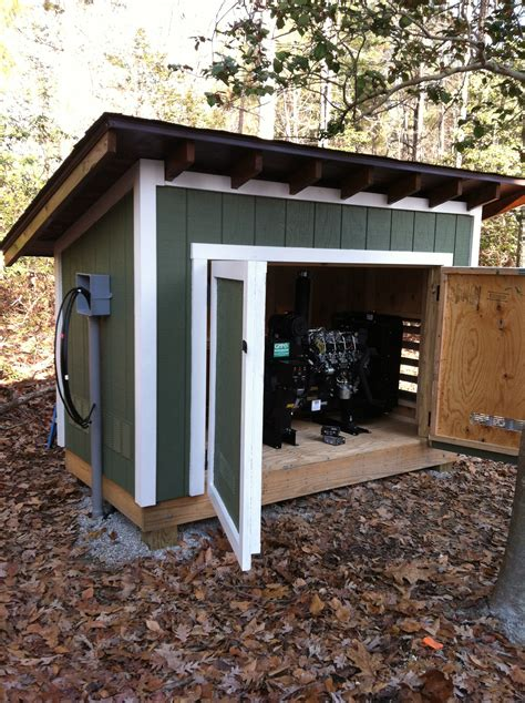 custom built generator shed outdoor structures