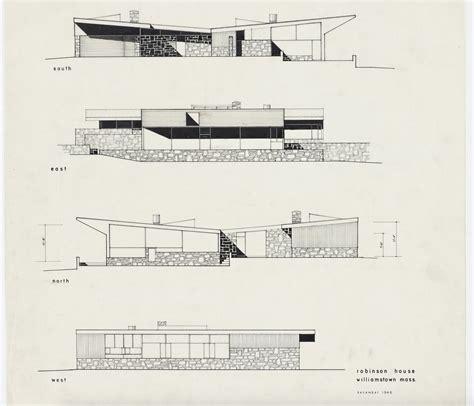 robinson house plans robinson house marcel breuer modern architecture blog