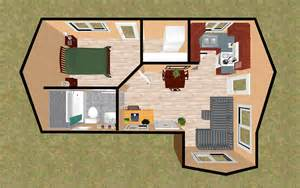 House Plans With Mother In Law Suite cozyhomeplans com 400 sq ft small house quot bessie anne quot 3d t