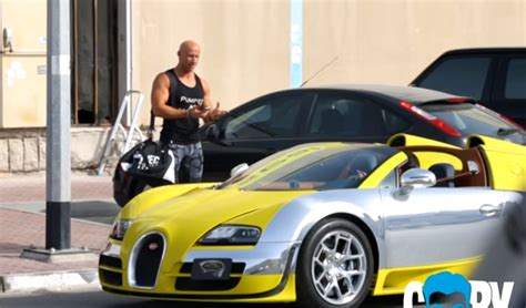 yellow and silver bugatti hypercar prank picking up uber riders in a bugatti veyron