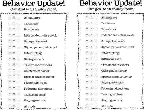 Weekly Behavior Report Card Template by 4 Best Images Of Daily Report Behavior Card Chart Daily