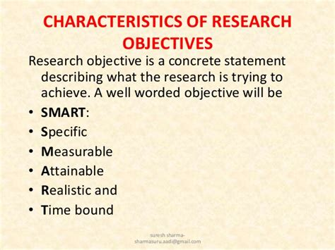 statement of research objectives writing research objectives by suresh aadi8888