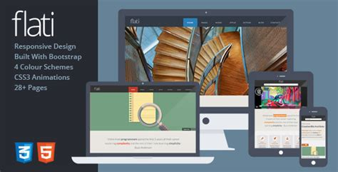 tutorial bootstrap flat design flati responsive flat design bootstrap template