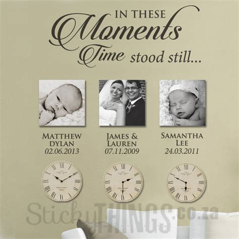 wall decal stickers moments wall sticker with dates photo wall sticker