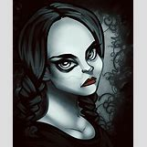 Wednesday Addams Drawing   672 x 822 png 589kB
