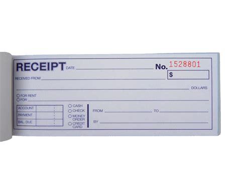 carbonless cash money rent receipt record book 2 part 50