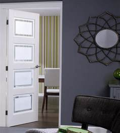 contemporary 4 glazed white doors