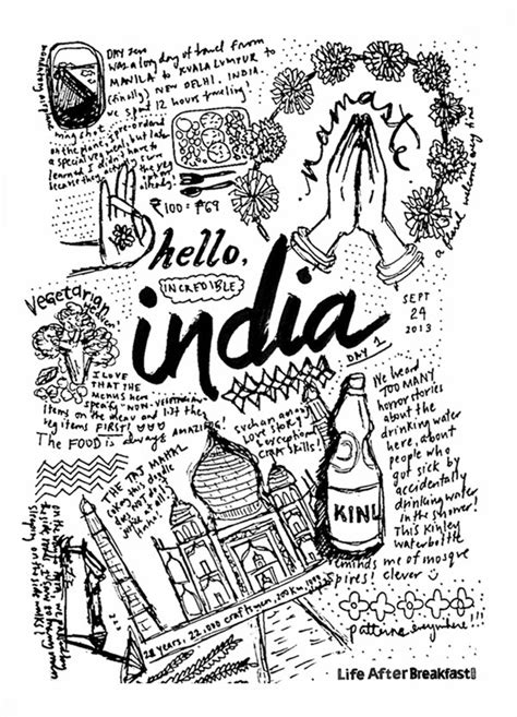 doodle in india travel diary india day 1 after breakfast
