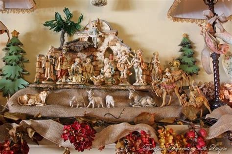 christmas mantel nativity christmas decorating pinterest