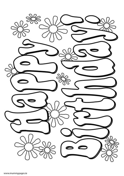 coloring pages of happy birthday signs free peace sign cupcake coloring pages