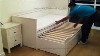 ikea trundle bed with drawers ikea hemnes day trundle bed with 3 drawers white youtube