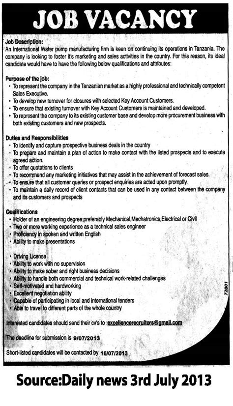 marketing and sales officer tayoa employment portal