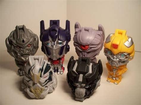 Mecha Transformer Optimus Ironhide Bumblebee Shockwave transformers 3 dotm burger king toys bumblebee