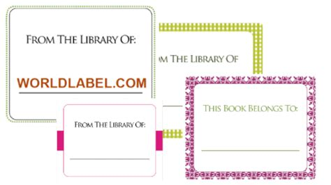 book labels template bookplate labels for free in printable templates