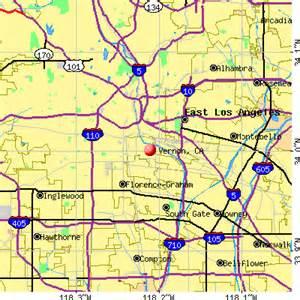 vernon california ca 90058 profile population maps
