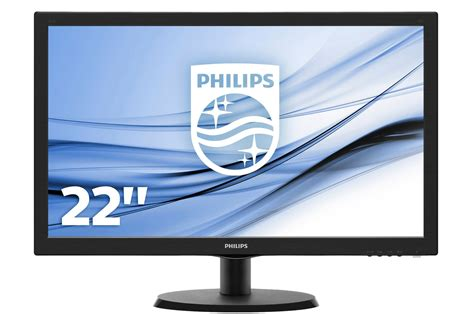 le de bureau philips ecran pc philips 223v5lhsb2 4169450 darty