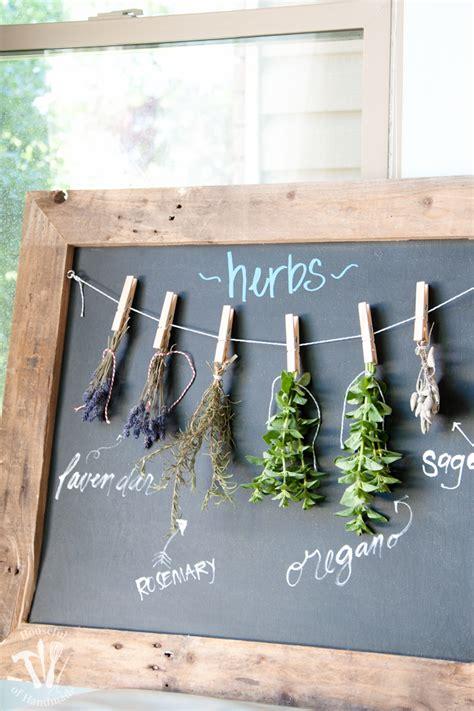 diy spice drying rack diy rustic chalkboard herb drying rack a houseful of