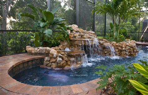 backyard grotto pool with grotto waterfall very small backyard pools
