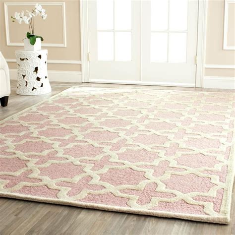 pink rug for room safavieh cambridge light pink ivory 8 ft x 10 ft area rug cam125m 8 at the home depot pink