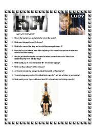 lucy film worksheet english worksheets lucy movie review