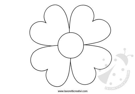 fiori per bambini da colorare sagome fiori da ritagliare