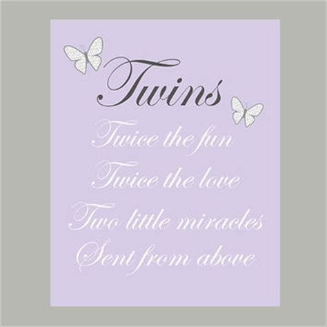 printable twin quotes printable twin quotes best boy girl twin nursery art