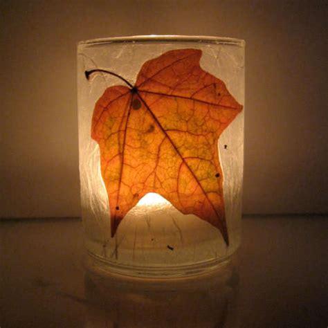 autumn leaf candle holders tea light candle holders