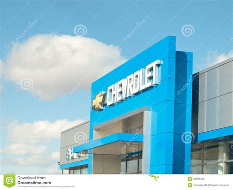 chevrolet dealership editorial photography image 29915137