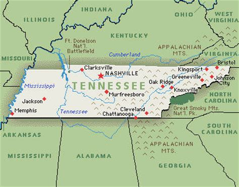 america map tennessee tennessee america map