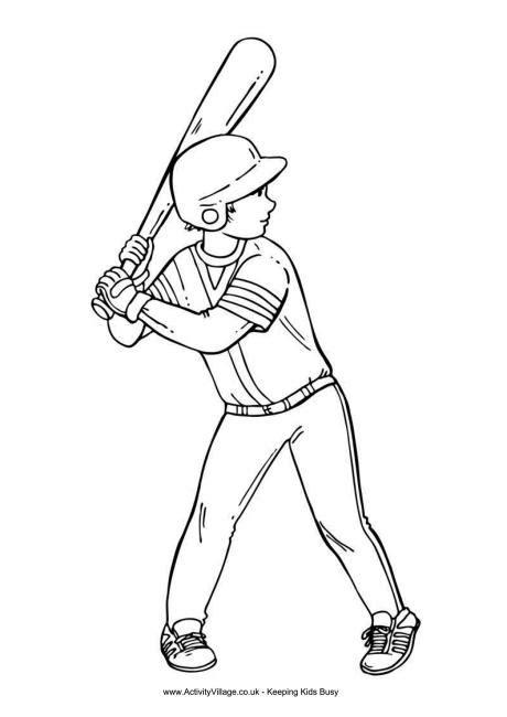 baseball boy coloring page baseball boy colouring page 2