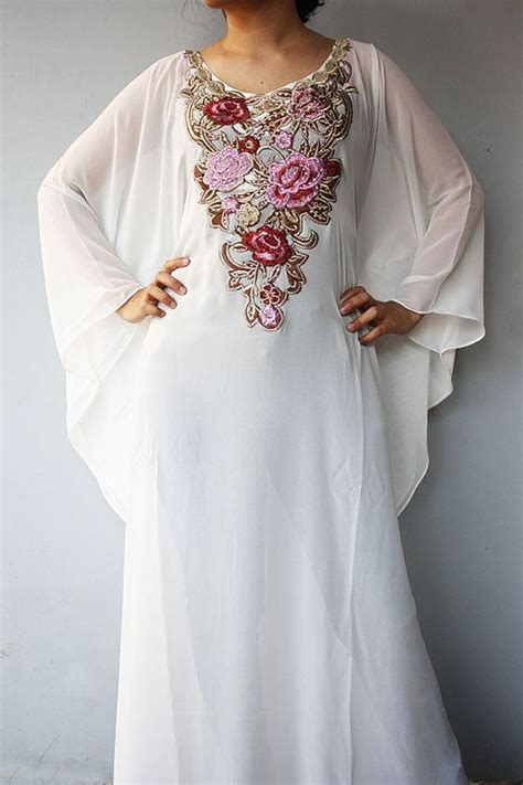 Kaftan Swarovsky Gamis Kaftan 1 exclusive one moroccan white caftan gold sequin embroidery dubai abaya maxi dress jalabiya