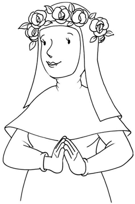 imagenes para colorear a santa rosa de lima image gallery lima para colorear