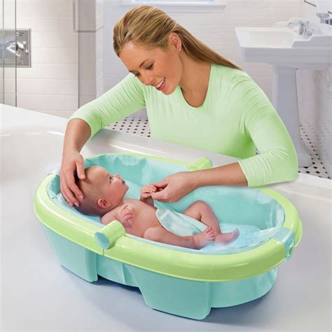 bathing baby in bathtub buy summer infant newborn to toddler fold away baby bath