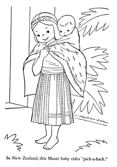 march new zealand colouring pages
