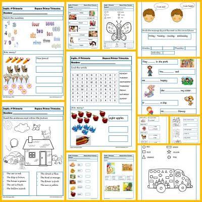 santillana para alumnos de educacin primaria aprender a leer fichas de ingl 233 s para primero de primaria