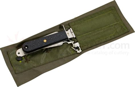 emergency knives ixl wostenholm aircrew emergency knife 4 quot curved stainless steel blade locking retention sheath