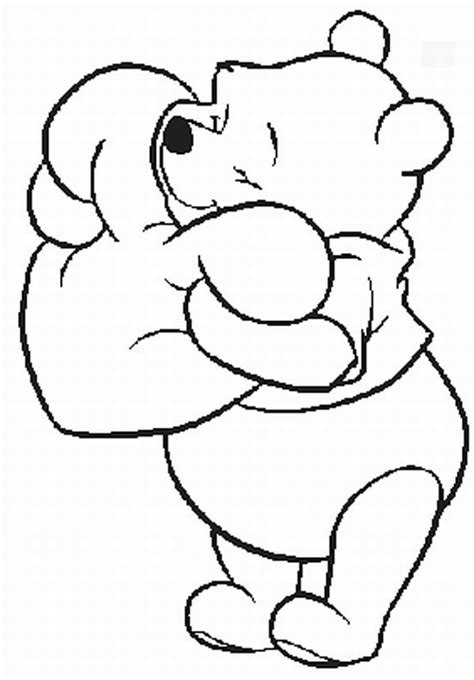 coloring page of winnie the pooh pooh valentine coloring pages pooh